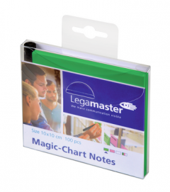 Legamaster Magic Notes Green 10x10mm Inc Marker