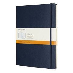 Moleskine Ruled Soft Notebook Sapphire Blue Extra Large