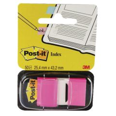 Post-it Pink Index Tab 25mm (Pack of 12x50)