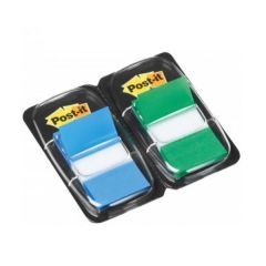 Post-it Green Blue Index 1in Twin Pack