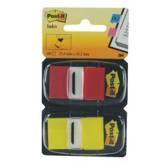 Post-it Red Yellow Index 1in Twin Pack
