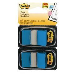 Post-It Blue Index Dispenser Twin Pack 100