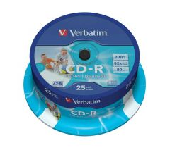 Verbatim CD-R 700Mb/80minutes 52X Pack of 25 43439