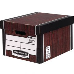 Bankers Box Woodgrain Tall Premium Storage Box