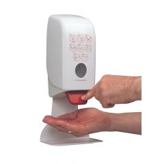 Aquarius Hand Sanitiser Dispenser White 1 Litre