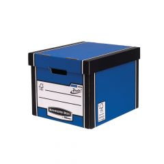 Bankers Box Blue Tall Premium Storage Box (12 Pack)