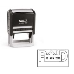 COLOP Self Inking Date and Message Stamp PAID
