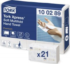 Tork Xpress Multifold Hand Towel H2 White 150 Sheets (21 Pack)