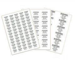 Return Address Labels Personalised Pk 195