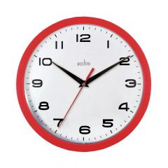 Acctim Aylesbury Wall Clock Red