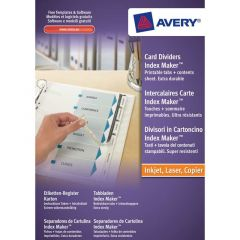 Avery Index Maker Divider A4 10-Part White Punched