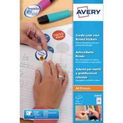 Avery Create Your Own Reward Stickers 8 Per Sheet Round 40mm (Pack of 192)
