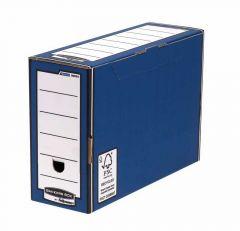 Bankers Box Premium Transfer File Blue/White Pk 10