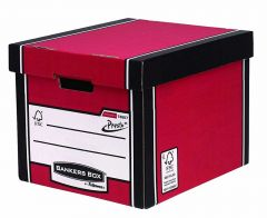 Archive Storage Boxes Premium Presto Tall Red/White