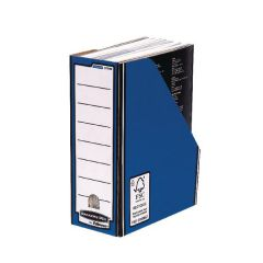 Premium Magazine File Blue By Bankers Box Pk 10