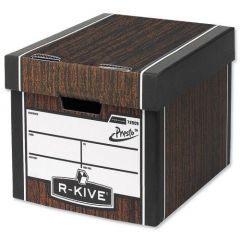 Fellowes Bankers Box Woodgrain Premium Storage Box (10+2 Pack)