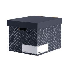 Bankers Box Decor Storage Box Grey (5 Pack)