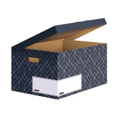 Bankers Box Decor Flip Top Box Grey (5 Pack)
