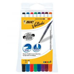 Bic Whiteboard Marker Slim Assorted Wallet of 8