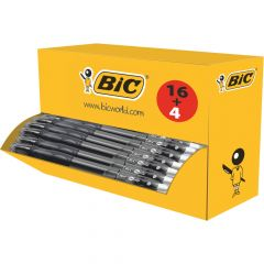 Bic Gel-ocity Original Gel Pen Retractable Medium Black (20 Pack)