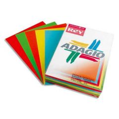 Adagio Card A4 160gsm Assorted Bright Pack of 250 AMD2116