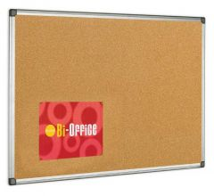 Cork Noticeboard Aluminium Frame 900x600mm