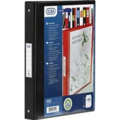 Elba 4-Ring Presentation Binder PVC A4 Black