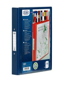 Elba 2-Ring Presentation Binder PVC A4 Blue