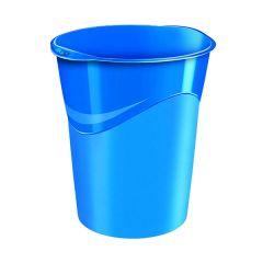 Waste Bin Pro Gloss Blue 14L