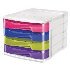 4-Drawer Module Pro Gloss Multicoloured