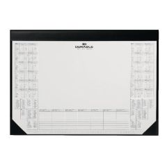Durable Calendar Desk Mat Black