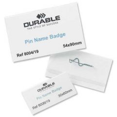 Durable Name Badge 54x90mm Pin Fastener
