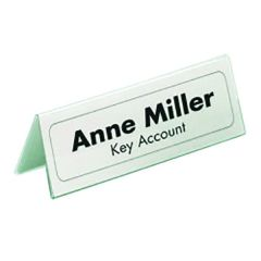 Durable 61x150mm Table Name Holder 8050