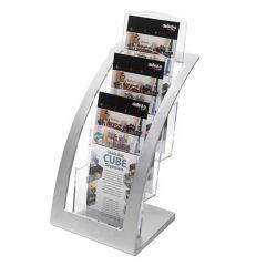 Deflecto Contemporary Counter Top Stand Silver