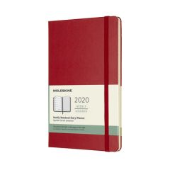 Moleskine Red Large Weekly Notebook Diary 12 Months Hard 2020