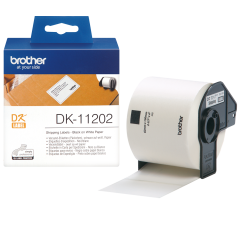 Brother Black on White 62 x100mm Labels Pk300