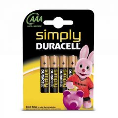 Duracell Simply Battery Pack of 4 AAA 81235219