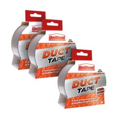 Unibond Duct Tape 50mm x 25m Silver 3 for 2