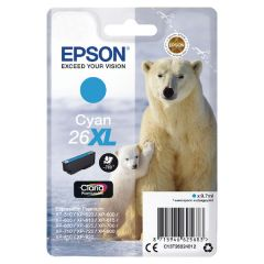 Epson No26XL Polar Bear Inkjet Cartridge High Yield Cyan C13T26324010