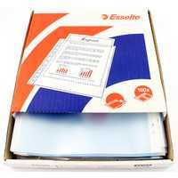 Esselte Clear Embossed Pocket Clear Pack 100