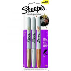 Sharpie Metallic Pk 3 Gold, Silver and Bronze