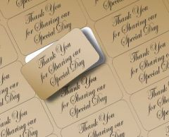 Return Address Labels Personalised Pk 195's Gold