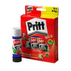 Pritt Glue Stick Large 43gm Boxed 5's 1456072