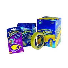Sellotape Golden Tape 24mmx66m + FREE Dispenser (6 Pack)