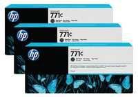 HP 771C 3-Pk 775-ml Matte Black Designjet Ink Cartridges B6Y31A