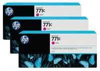 HP 771C 3-Pk 775-ml Magenta Designjet Ink Cartridges B6Y33A