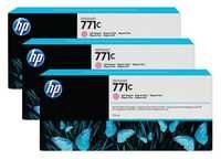 HP 771C 3-Pk 775-ml Light Magenta Designjet Ink Cartridges B6Y35A