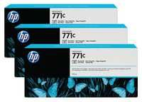 HP 771C 3-Pk 775-ml Photo Black Designjet Ink Cartridges B6Y37A