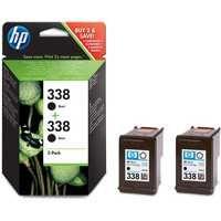 HP 338 Inkjet Cartridge Black Pk 2 CB331EE