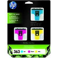 HP  363 Inkjet Cartridge 3 Pk Cyan Magenta Yellow CB333EE
